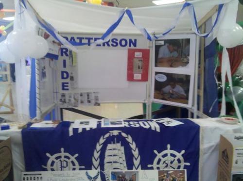 Our booth at the school choice fair
