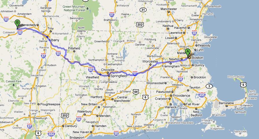 Boston to Sloansville Maryland Math Madness