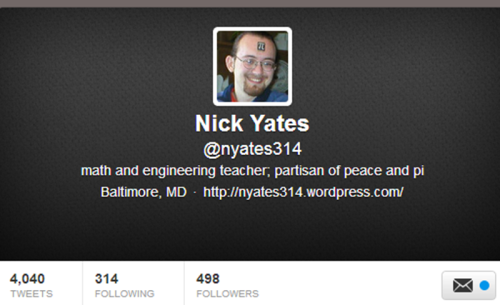 Hey look - I'm following about 100pi people!