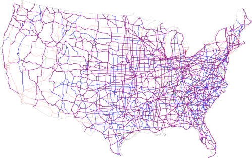 Map of Current US Routes, Wikipedia