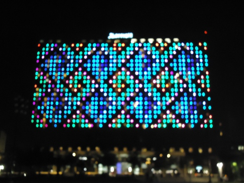 Light pattern on KC Marriott Hotel