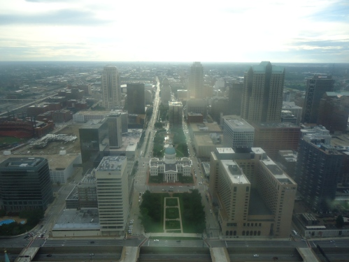 St. Louis downtown and green-domed courthouse