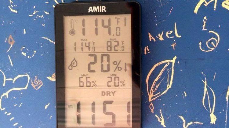 114 degrees